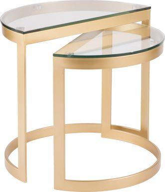 Daleford Gold Set of 2 Nesting Tables