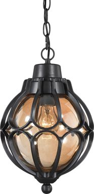 Dallerton Black Outdoor Chandelier