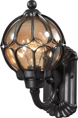 Dallerton Black Outdoor Wall Sconce