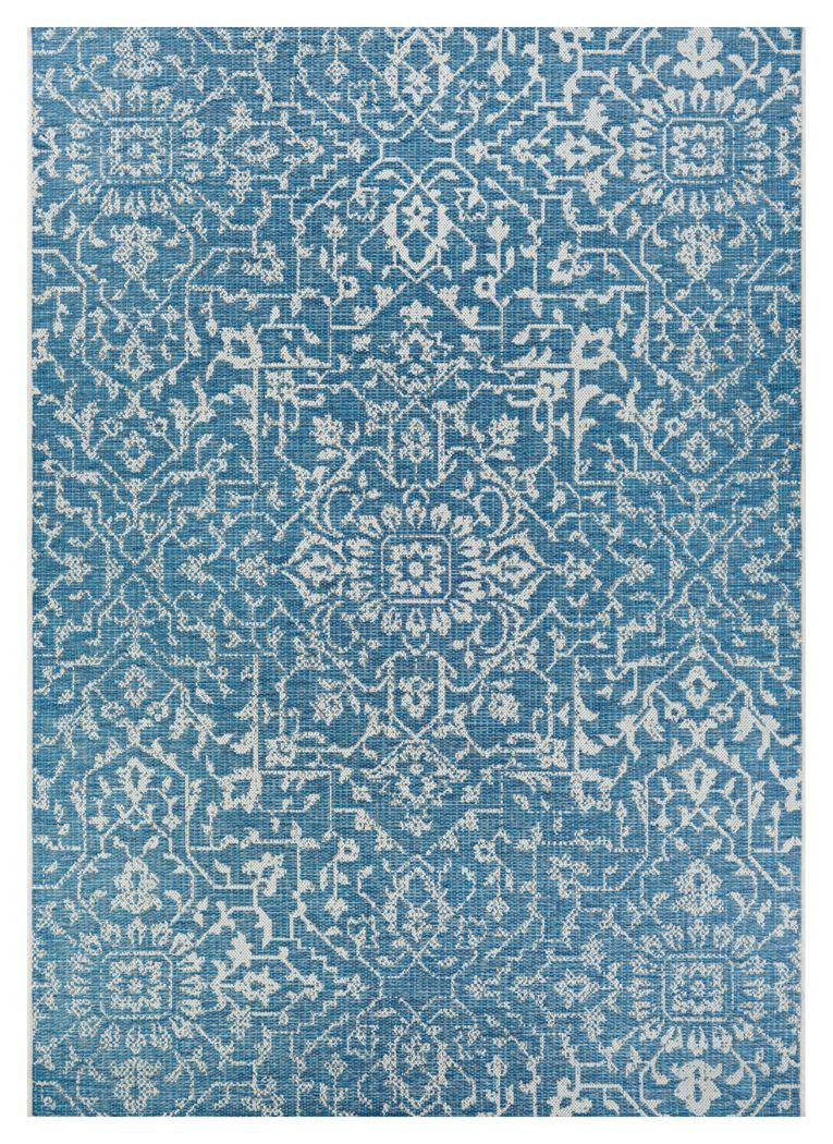 Dalmally Blue 5'3 x 7'6 Indoor/Outdoor Rug