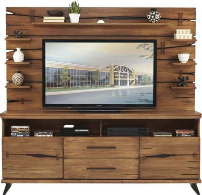 Dana Point Brown 2 Pc Wall Unit