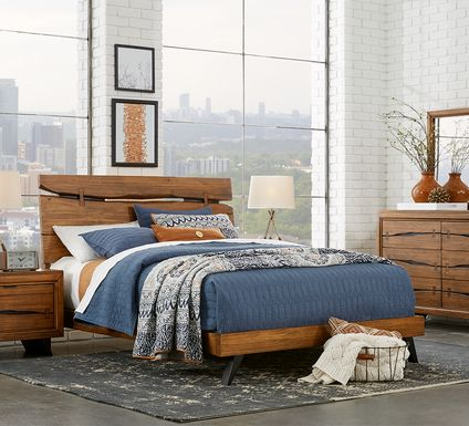 Dana Point Brown 7 Pc King Panel Bedroom