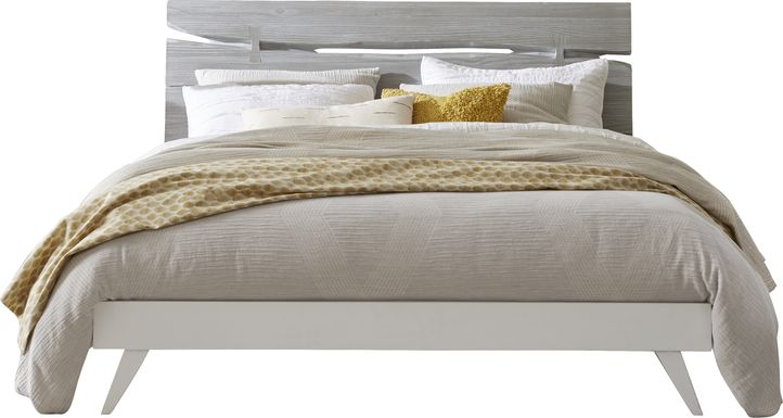 Dana Point White 3 Pc Queen Panel Bed