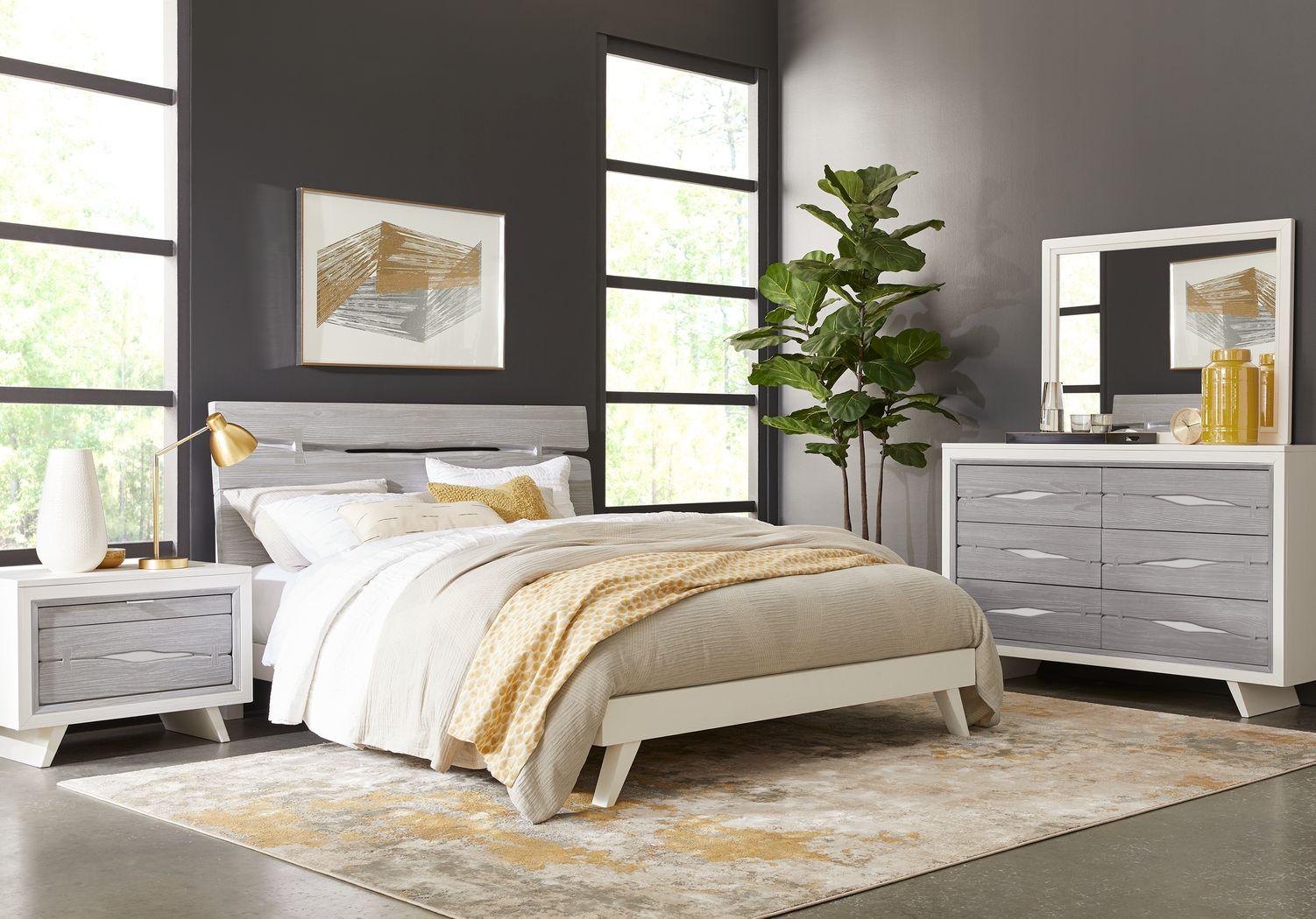 Dana Point White 5 Pc King Panel Bedroom