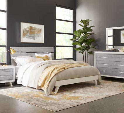 Dana Point White 7 Pc King Panel Bedroom