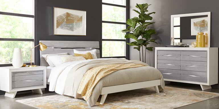 Dana Point White 7 Pc King Panel Bedroom