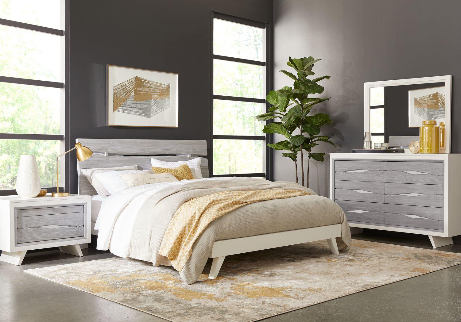 Dana Point White 7 Pc Queen Panel Bedroom