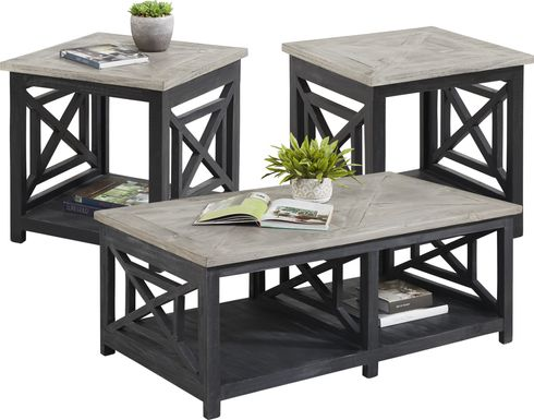 Danusa Black 3 Pc Table Set