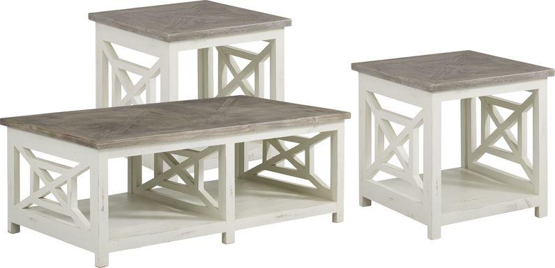 Danusa Gray 3 Pc Table Set