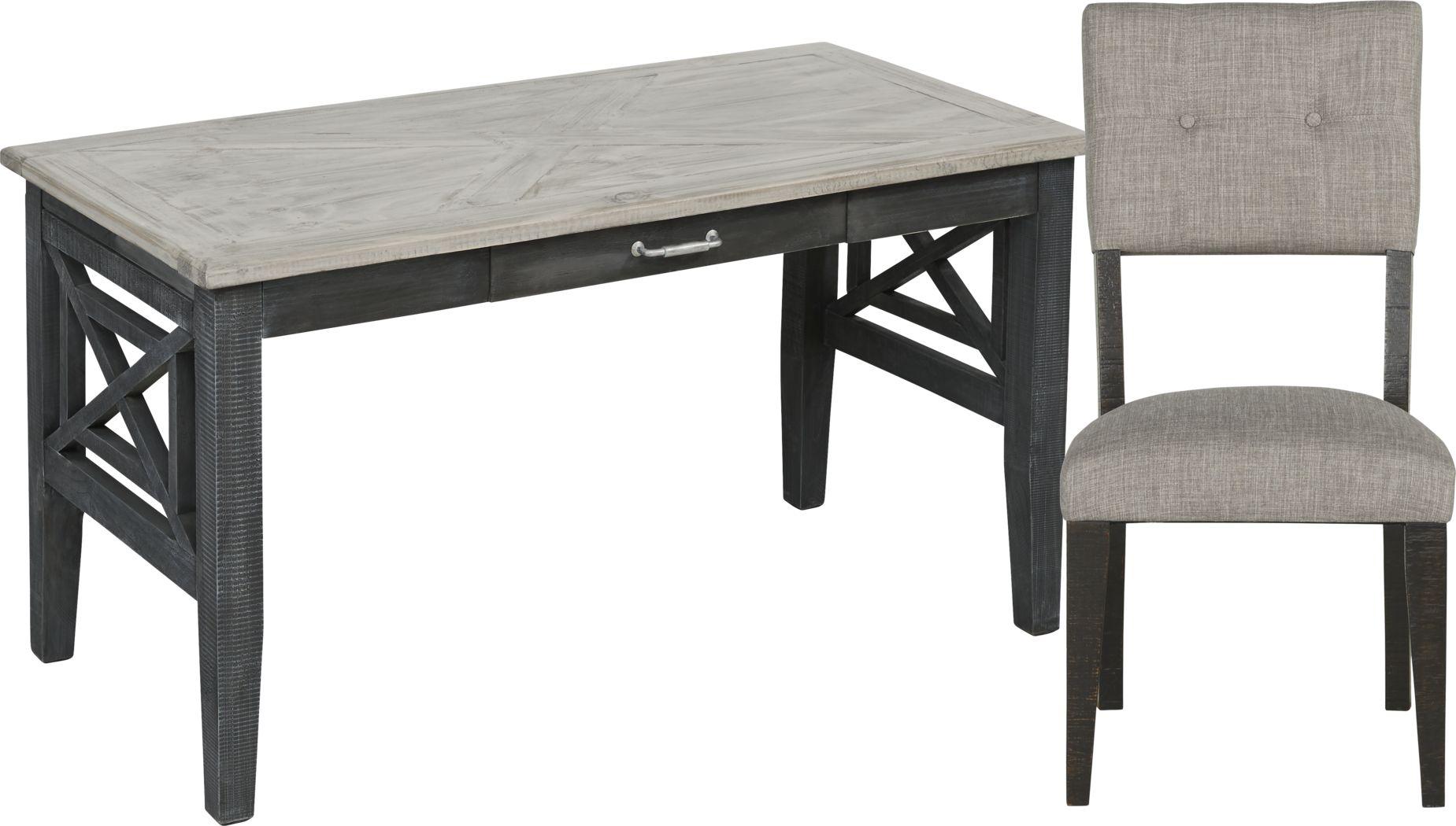 Danusa Gray Writing Desk with Chair