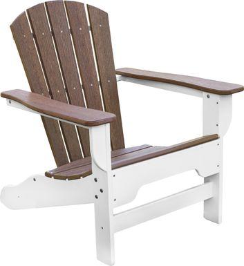 Danverton Natural White and Brown Adirondack Chair
