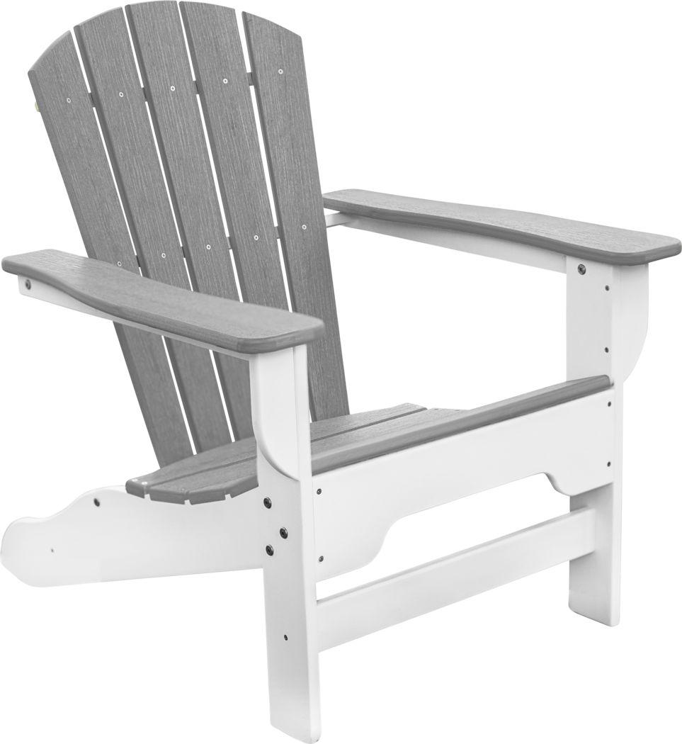 Danverton Natural White and Granite Adirondack Chair