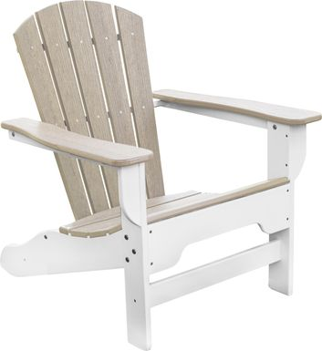 Danverton Natural White and Pebble Adirondack Chair