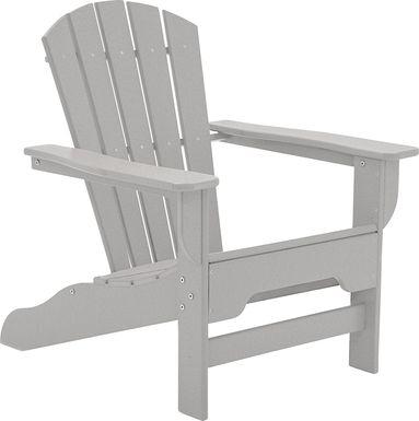 Danverton Traditional Light Gray Adirondack Chair