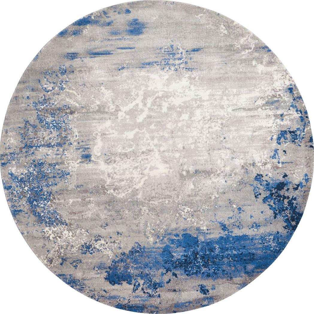 Darena Blue 8' Round Rug