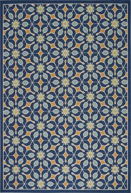 Darion Navy 8' x 11' Indoor/Outdoor Rug