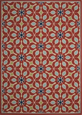 Darion Rust 8' x 11' Indoor/Outdoor Rug