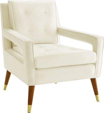 Darius Ivory Accent Chair