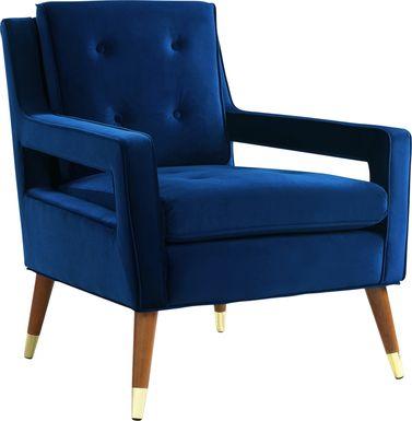 Darius Navy Accent Chair