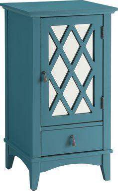 Darla Blue Accent Cabinet