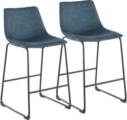 Darnell Blue Counter Height Stool, Set of 2