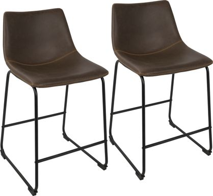 Darnell Espresso Counter Height Stool (Set of 2)
