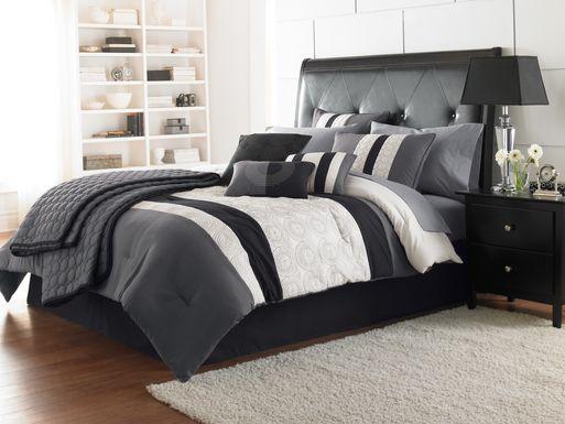 Darrah Black 7 Pc King Comforter Set