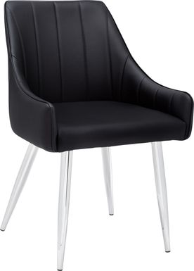 Dashby Black Chrome Arm Chair