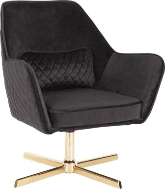 Datura Black Accent Chair