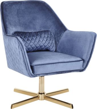 Datura Blue Plush Accent Chair
