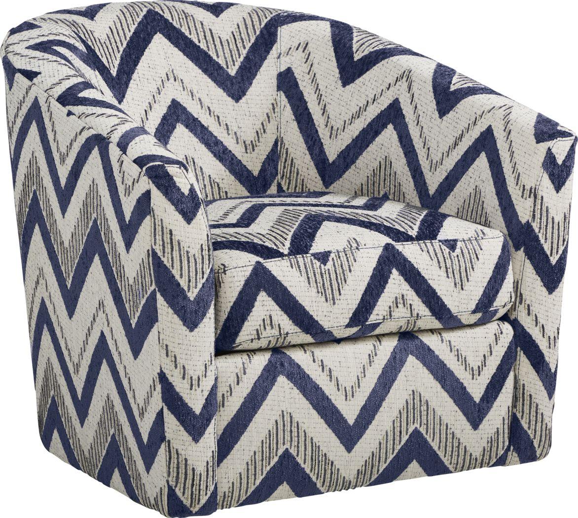 Davilla Gray Accent Swivel Chair
