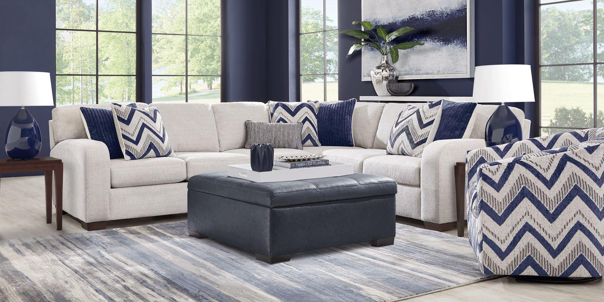 Davilla Platinum 5 Pc Sectional Living Room