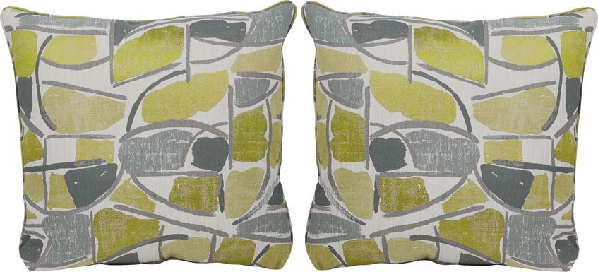 Daydream Yellow Accent Pillows (Set of 2)