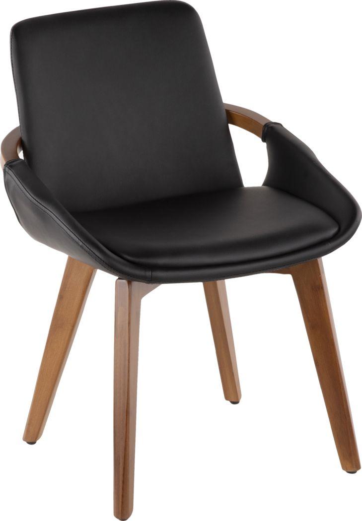 Daylilly Black Arm Chair