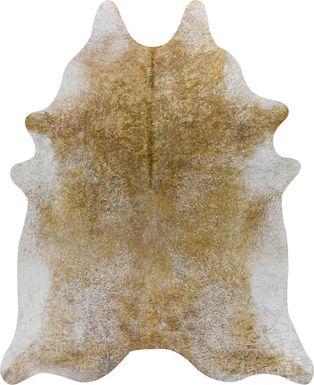 Daziel 4' x 4' Gold Rug