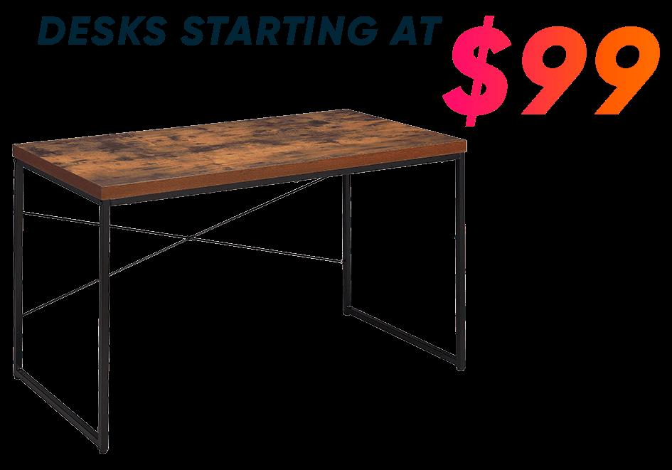 desks starting at $99