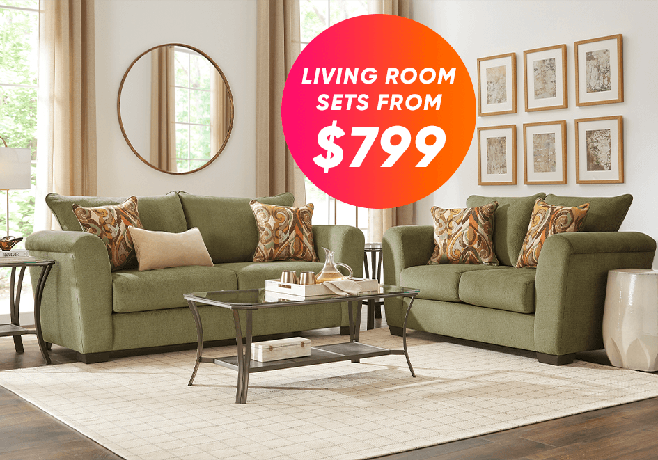 living room sets from $799