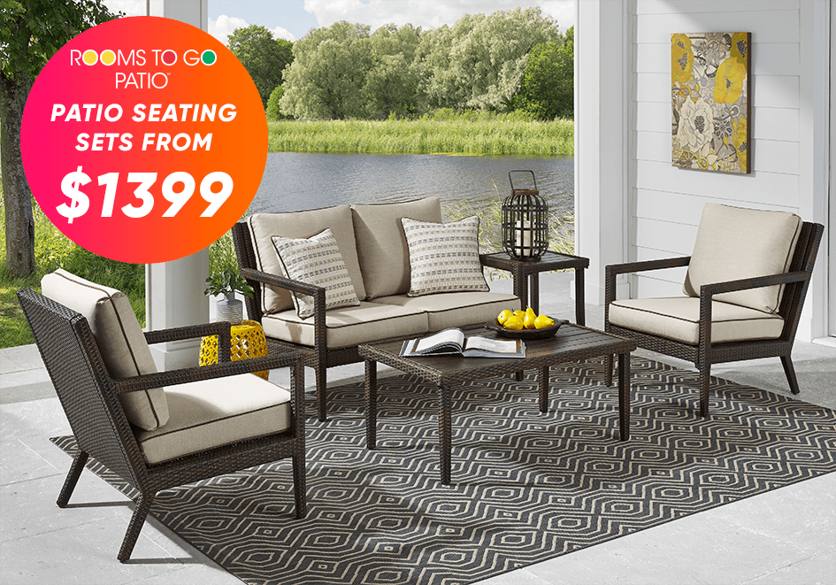patio seating sets from $1399