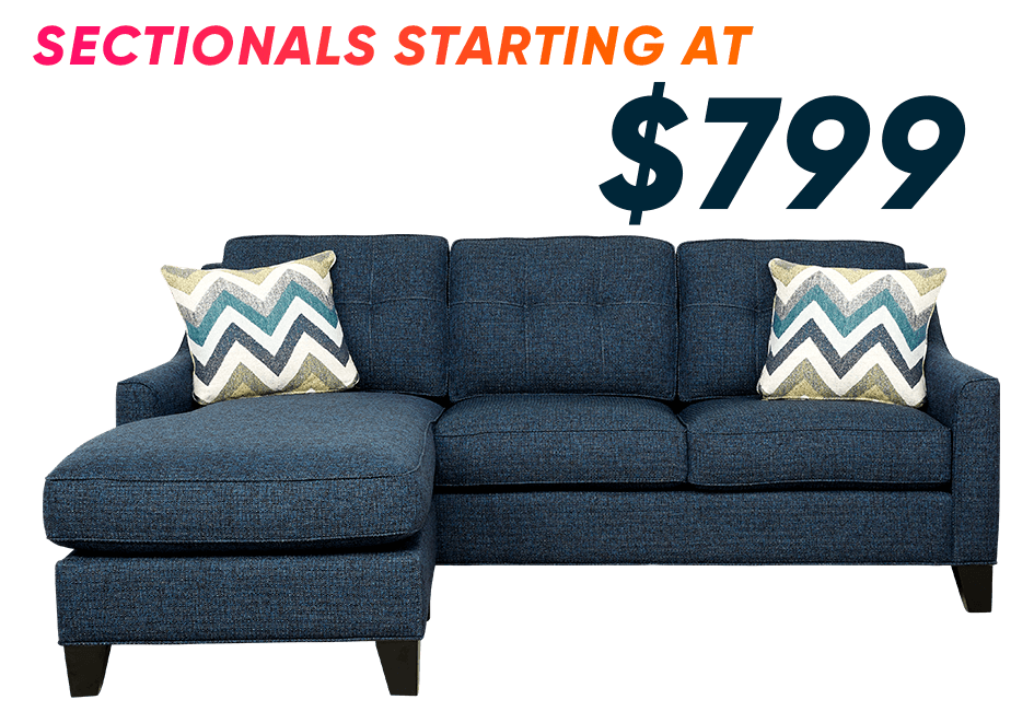 sectionals starting at $799