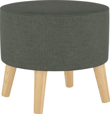 Deep Forest Charcoal Ottoman
