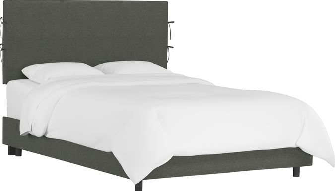 Deep Forest Charcoal Queen Upholstered Bed