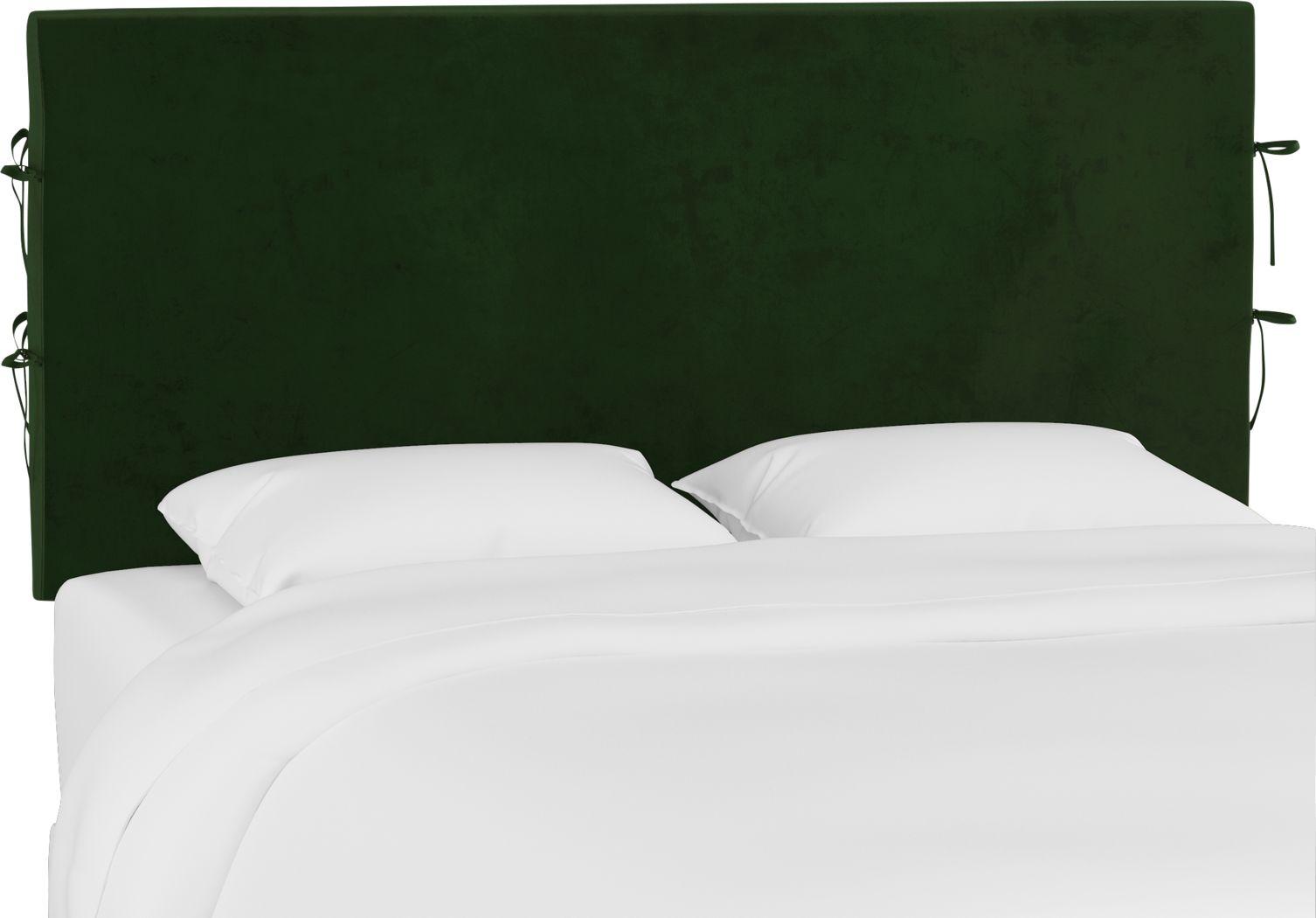 Deep Forest Emerald King Upholstered Headboard