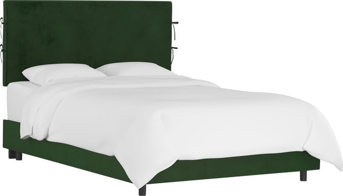 Deep Forest Emerald Queen Upholstered Bed