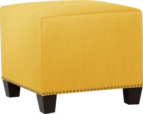 Delana Yellow Ottoman