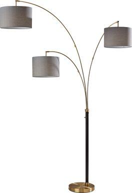 Delgany Street Brass Floor Lamp
