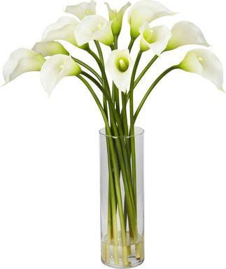 Delissa White Lily Silk Floral