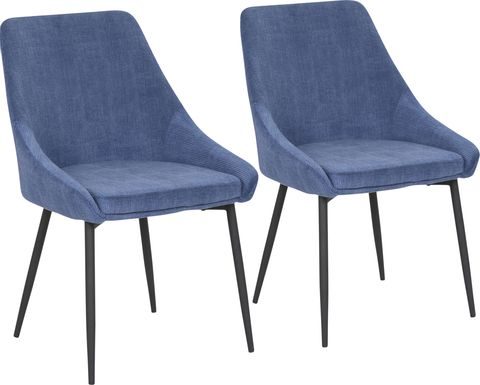 Dellrey Blue Dining Chair, Set of 2