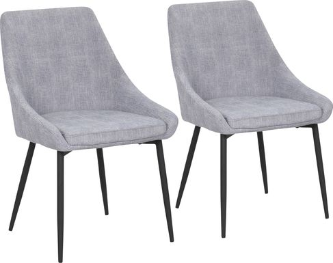 Dellrey Light Gray Dining Chair, Set of 2