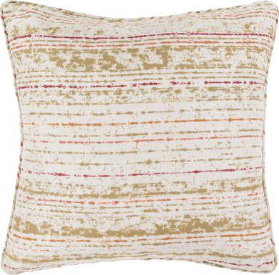 Delmare Orange Indoor/Outdoor Accent Pillow