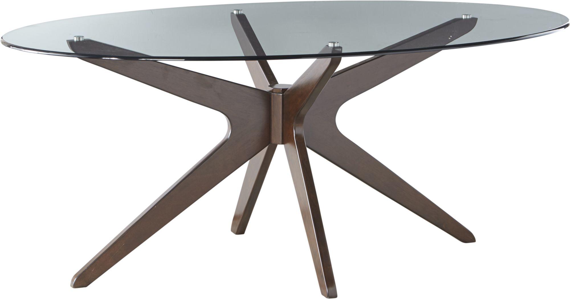 Delmon Walnut Oval Dining Table